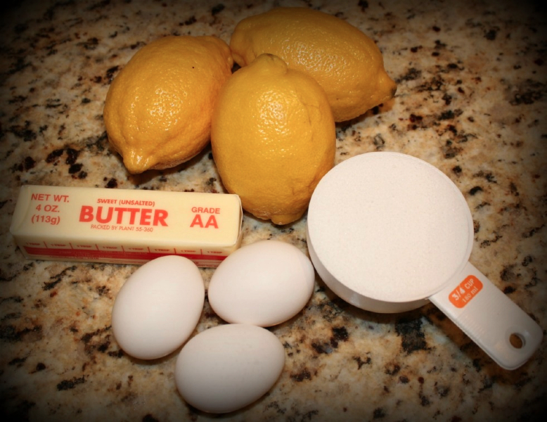 Ingredients for Lemon Curd