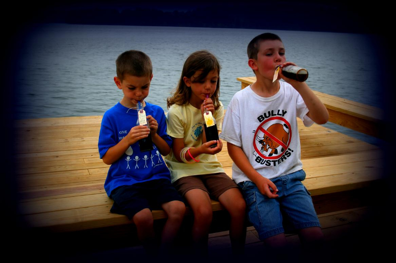 Kids enjoying homemade root beer