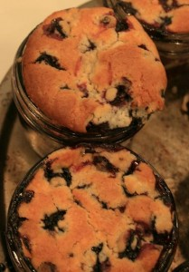 Blueberry Cobbler in Jars