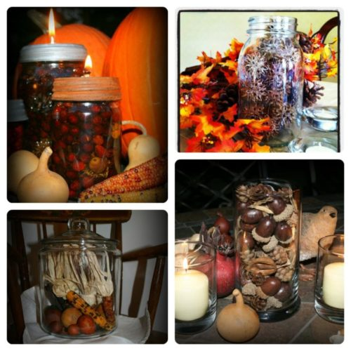 Mason Jars in Fall Centerpieces