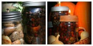 Mason Jar Lanterns - Fall