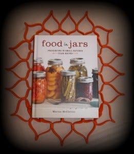 Food in Jars Cookbook and Blossom Trivet