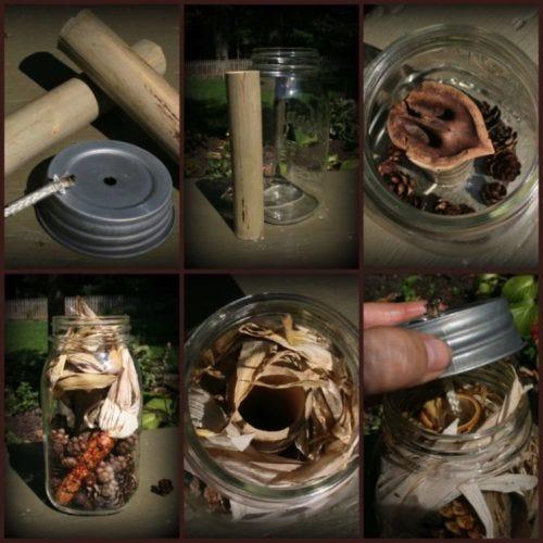 Mason Jar Lantern DIY