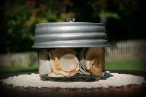 Mason Jar Sea Shell Lantern