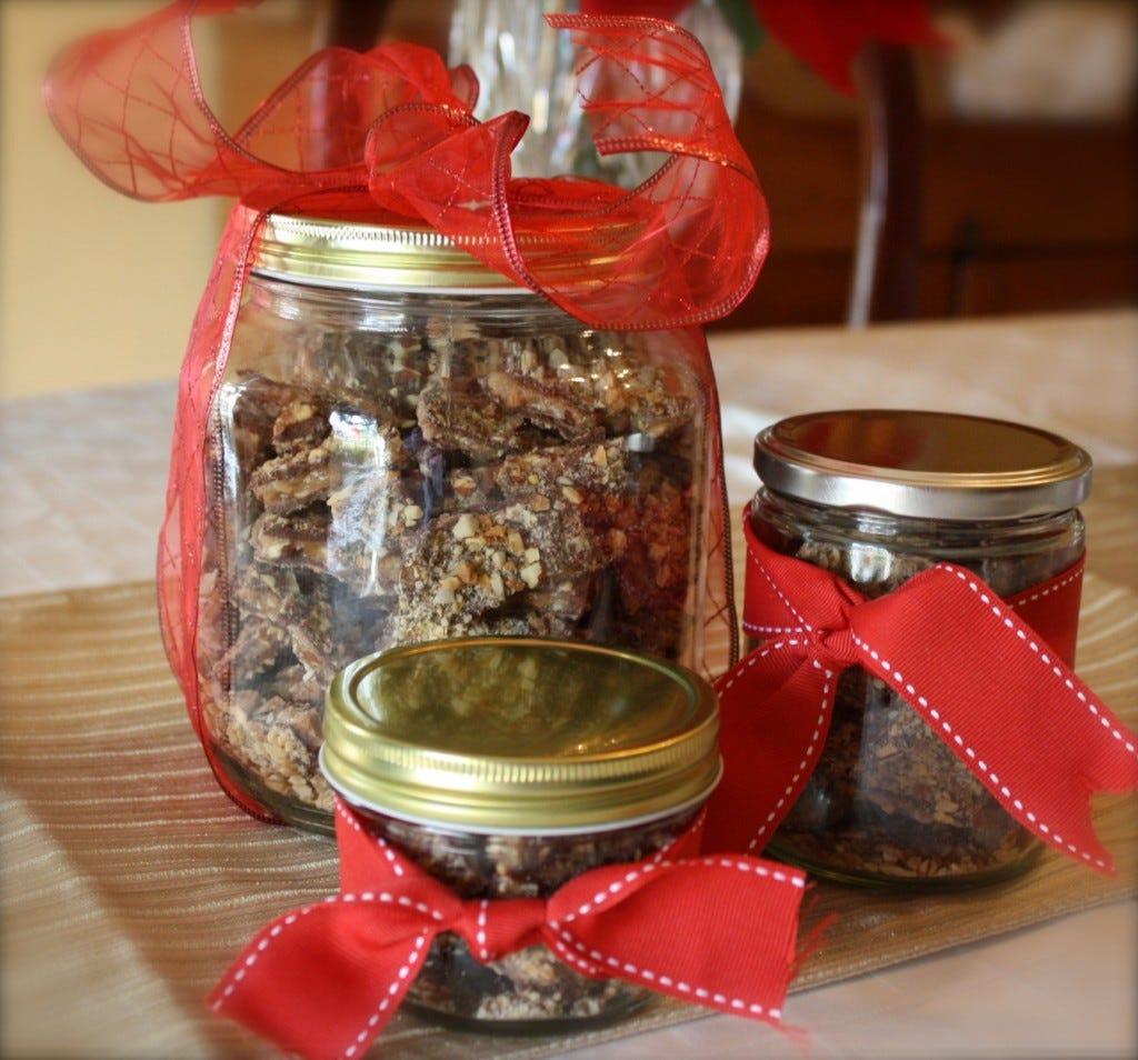 Almond Butter Crunch in Jars