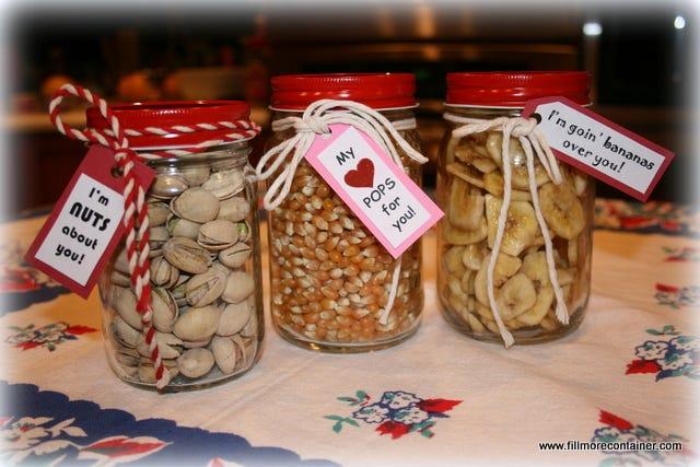 Healthy Valentine Jars