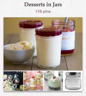 Dessert in Jars - Pinterest