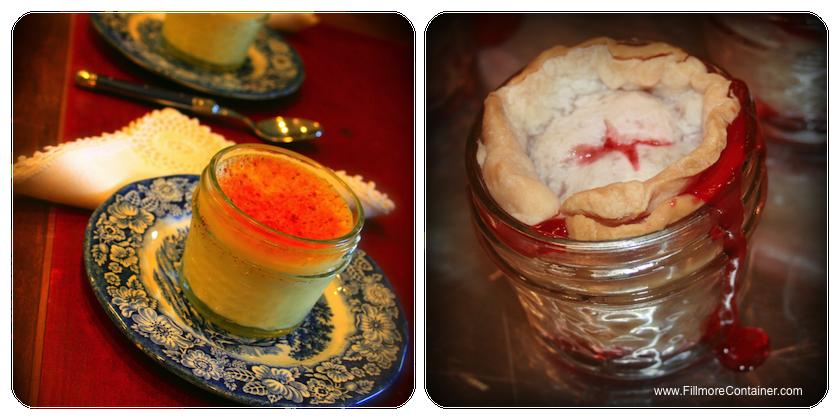 dessert in jars