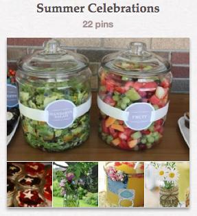 Pinterest - Summer Celebration board