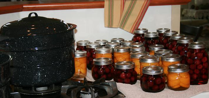 canning cherries and apricots