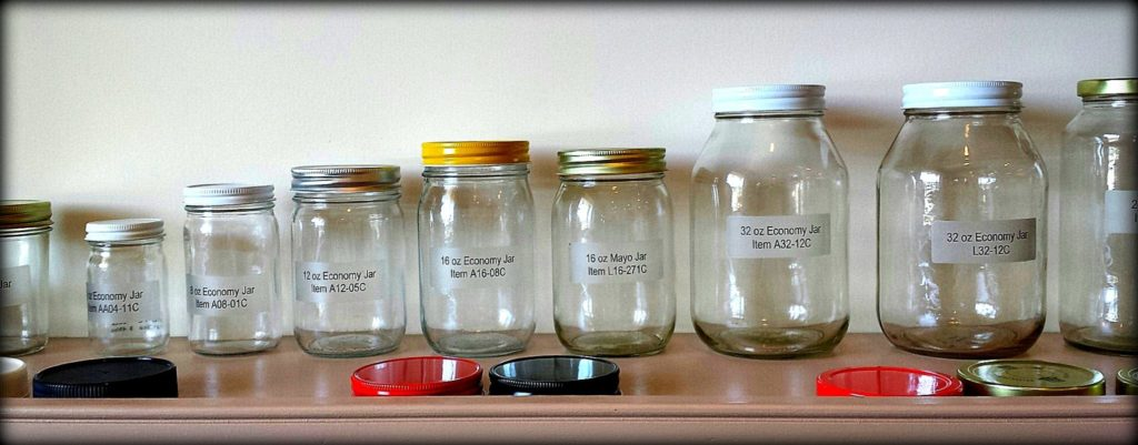 Mason jars and lids