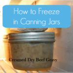 How to freeze in jars