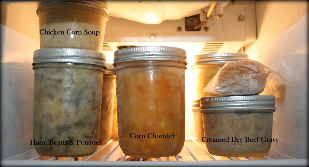 Frozen Meals in jars