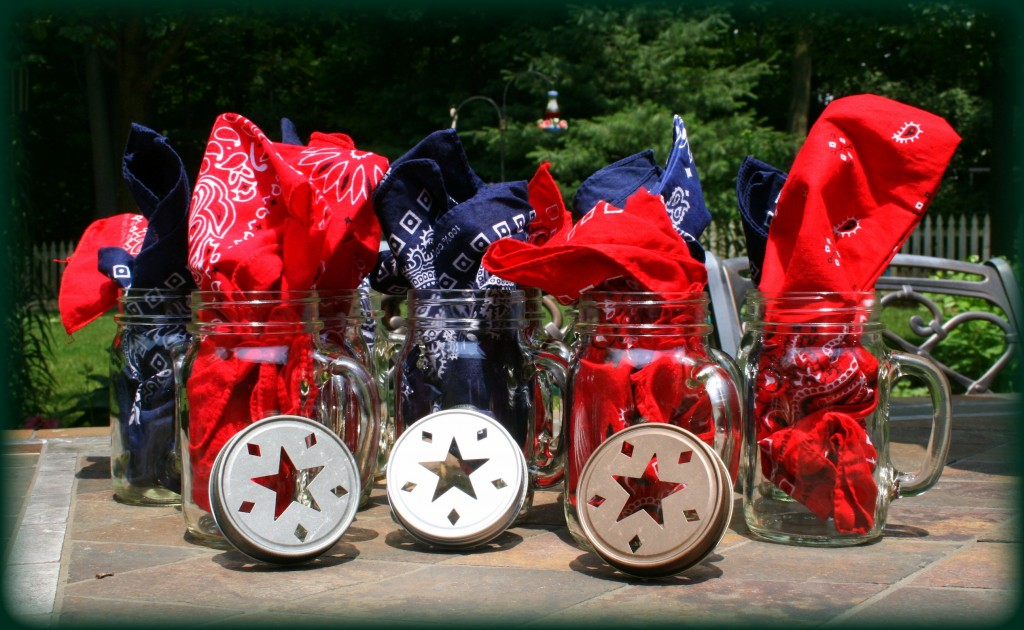 Mason Jar Mugs Patriotic