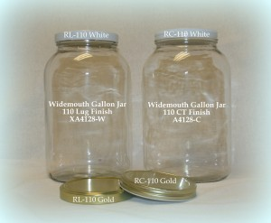 Widemouth Gallon Jars & Lid
