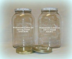 Widemouth Gallon Jars & Lid