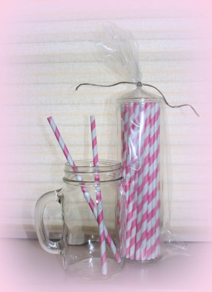 Pink Straws Mug Giveaway