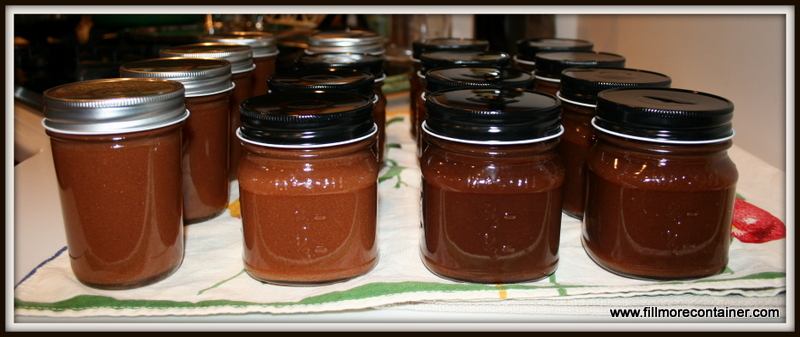 Apple Butter in Jars