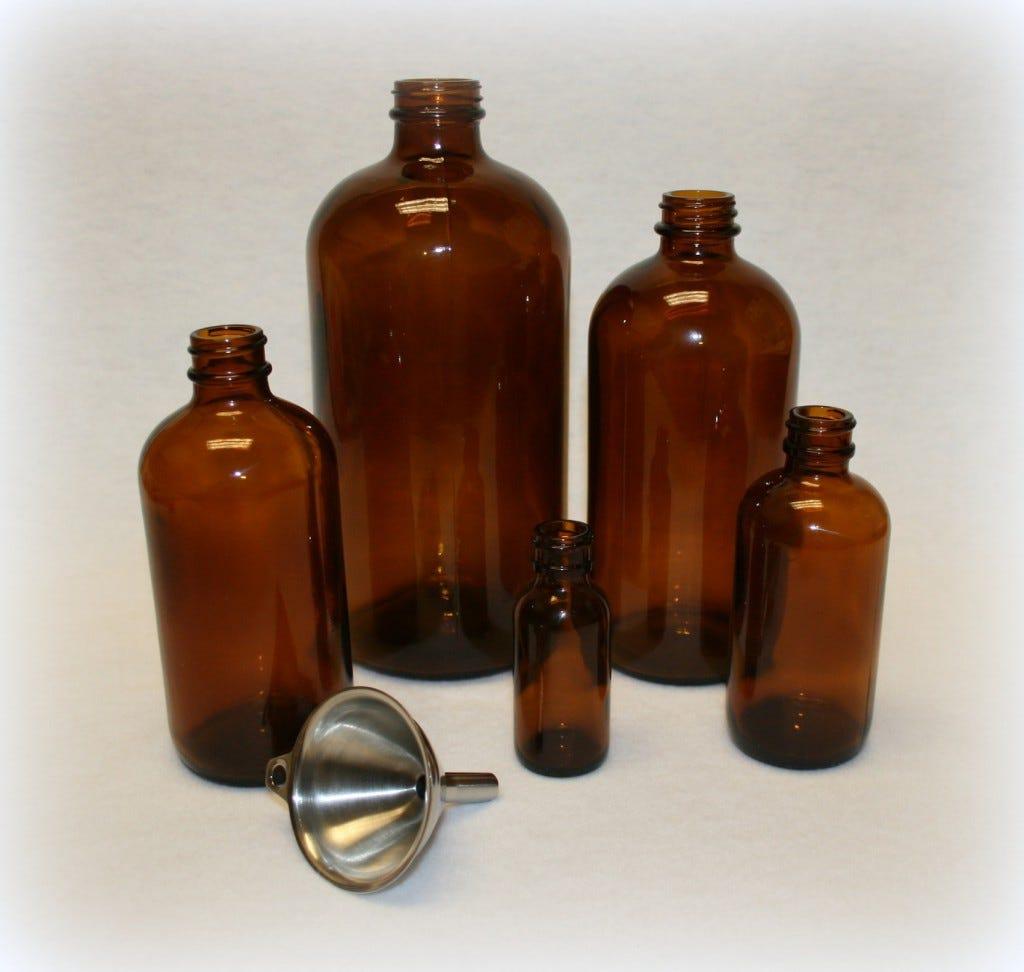 Amber family of Jars & Funnel