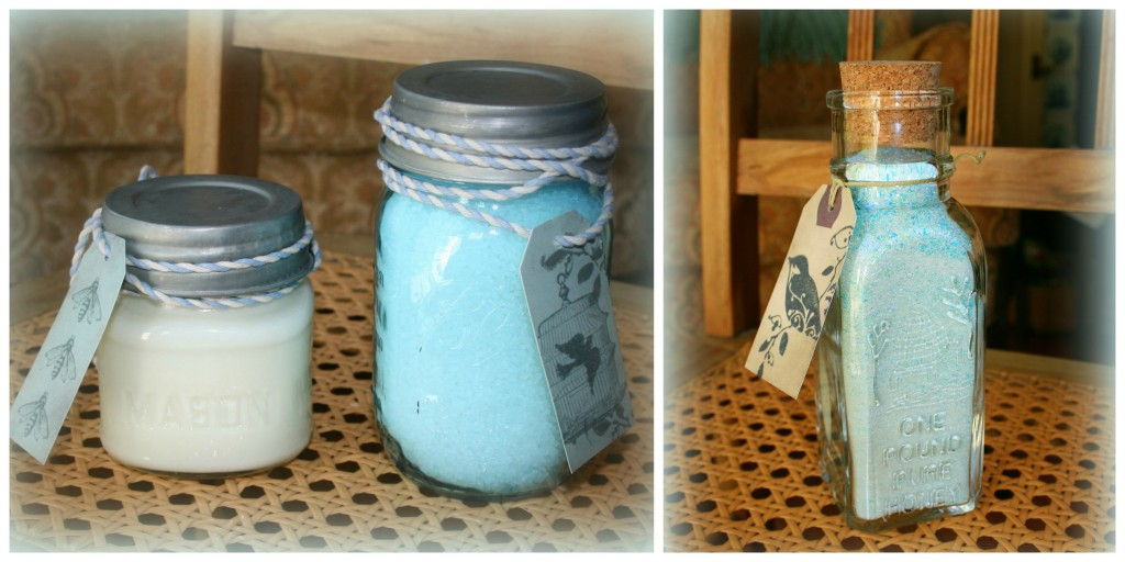 Bath gifts in jars