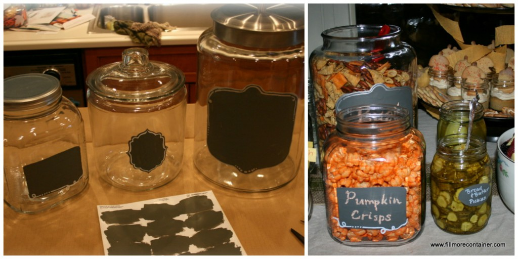 Chalkboard Jars for entertaining