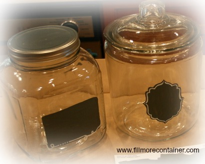DIY Chalkboard Jars Labels