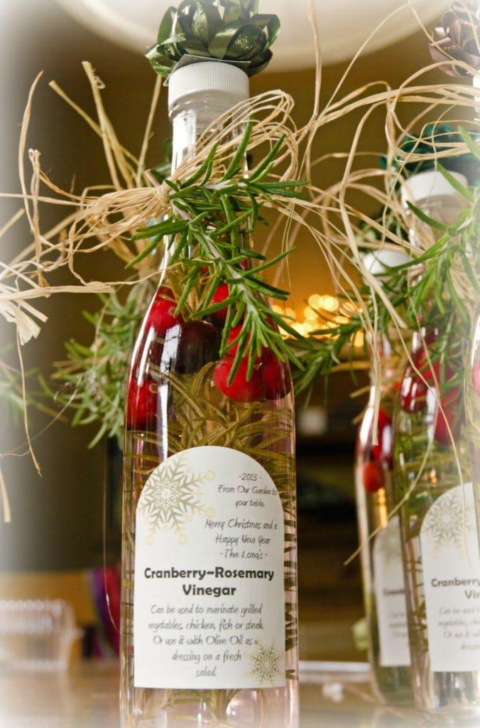 Cranberry Rosemary Vinegar