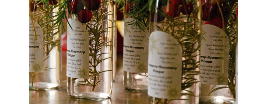 Cranberry Rosemary Vinegar