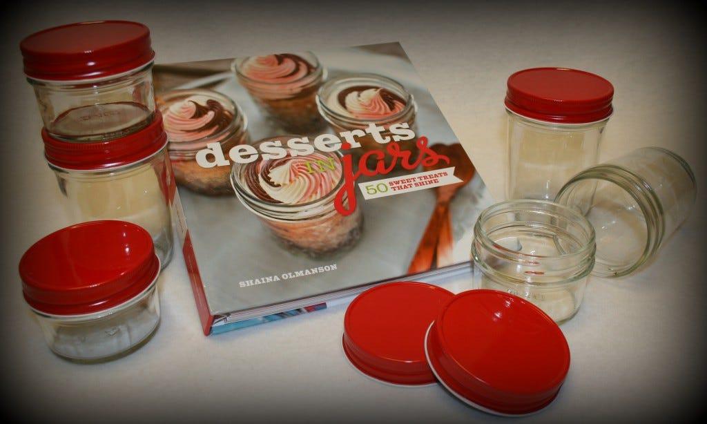 Desserts in Jars Red Lids