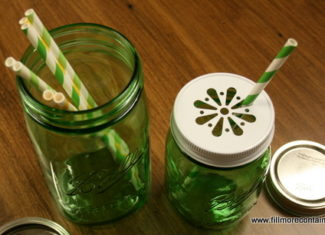 Ball Green Jars with paper straws - Fillmore Container