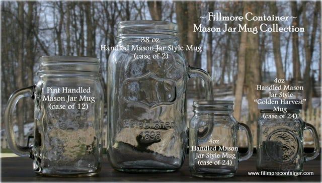 Mason Jar Mugs Fillmore Container