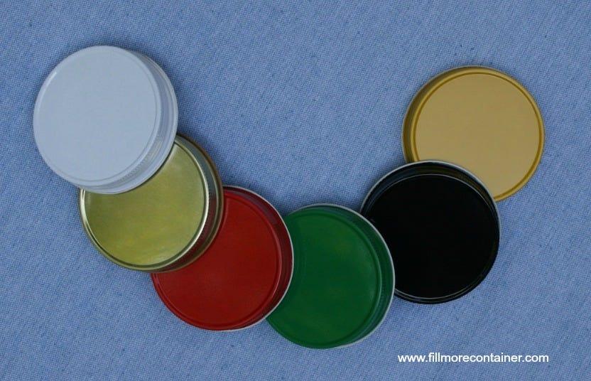 NO Button lids - Standard plastisol