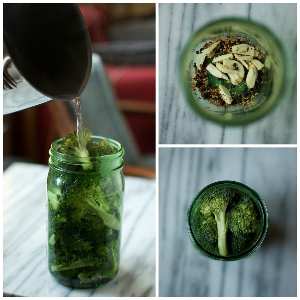 Pickled Broccoli collage