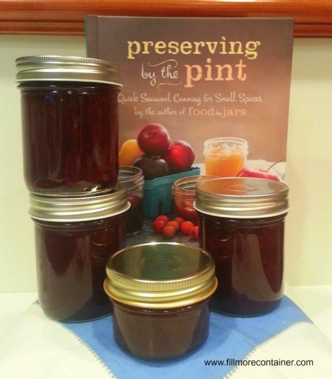 Honey Sweetened Strawberry Thyme Jam from Preserving by the Pint