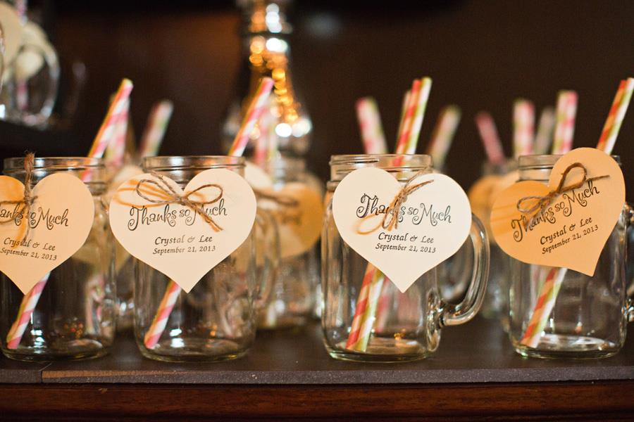 Wedding with Mason Jar Mugs