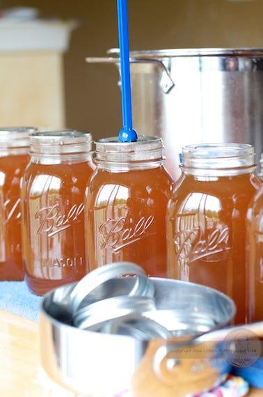 Vegtable Stock in jars