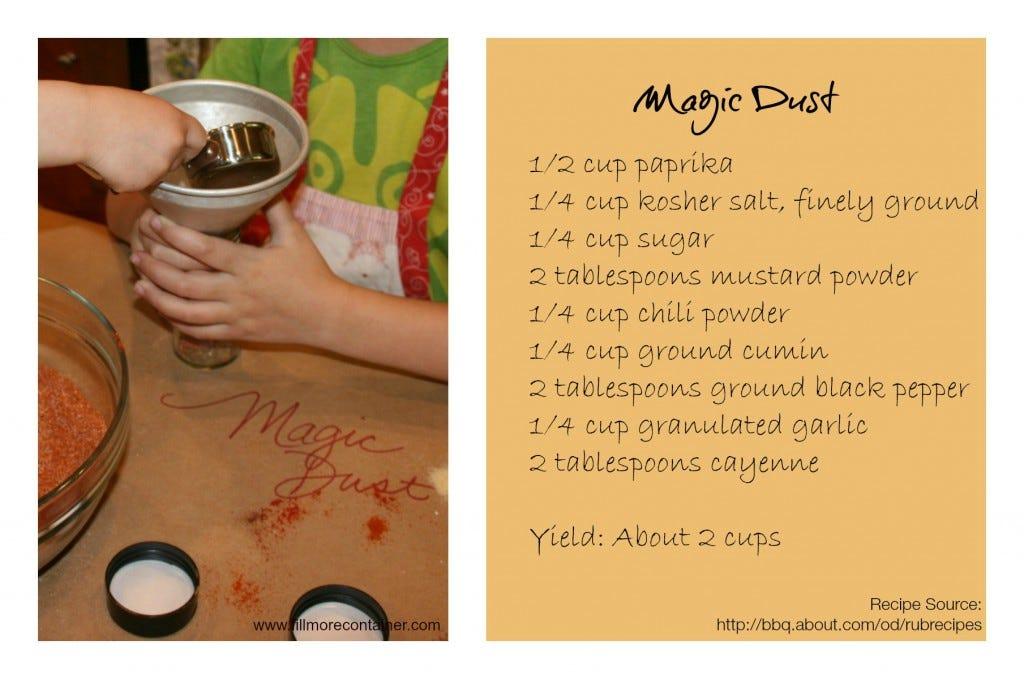 Magic Dust Recipe Collage