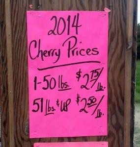 2014 Cherry Prices