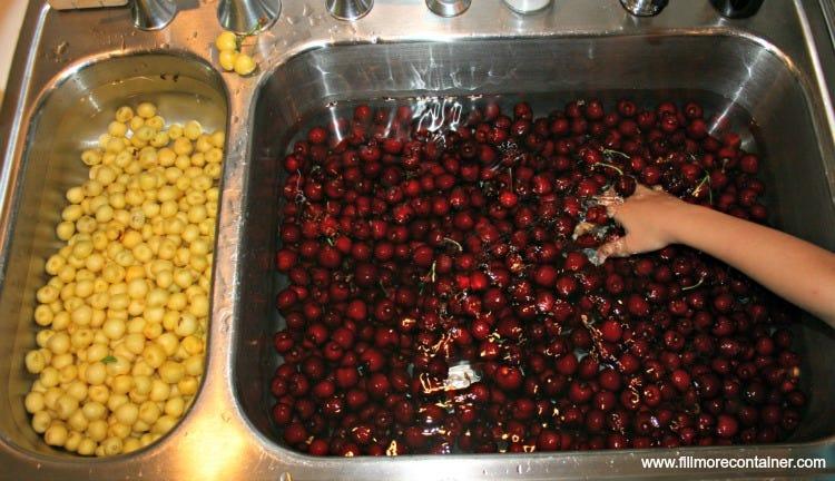 Rinsing Cherries