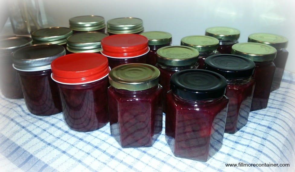 Sweet Cherry Jam in Jars
