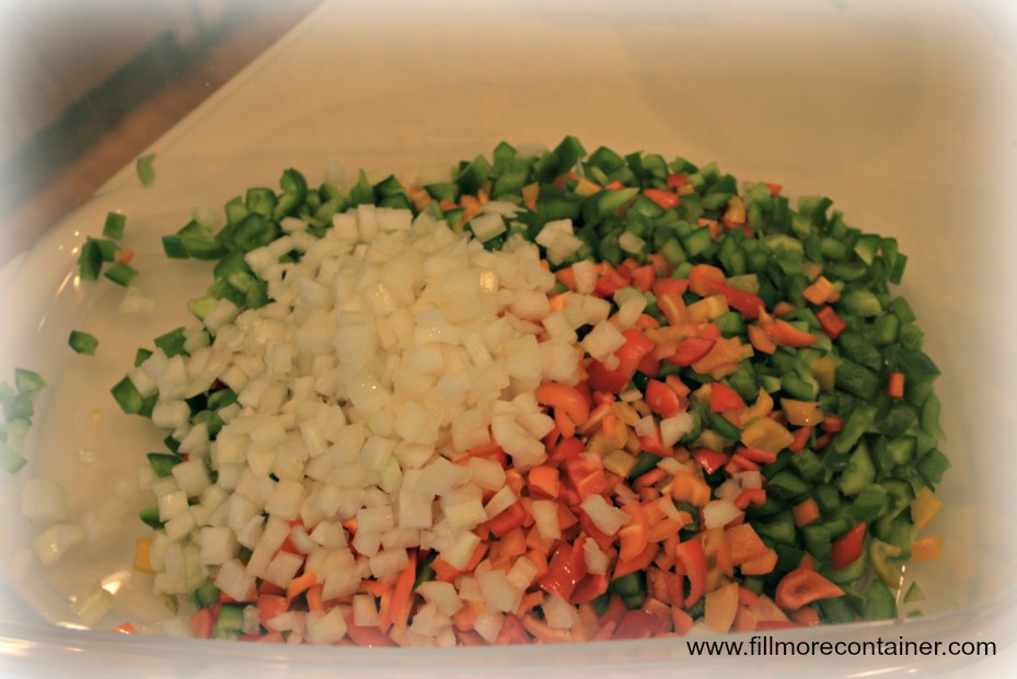 Cubed Veggies for Relish