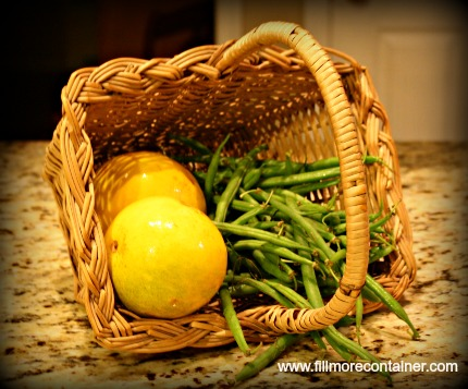 quick pickled green beans-ingredients