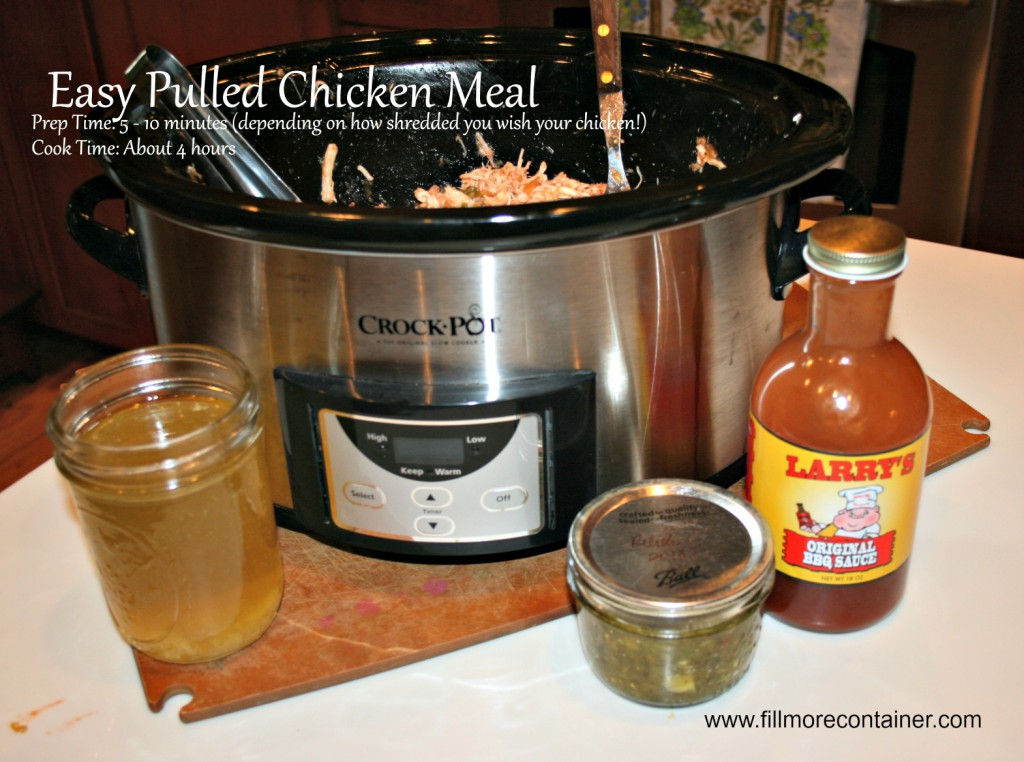 Crockpot Pulled Chicken with Relish
