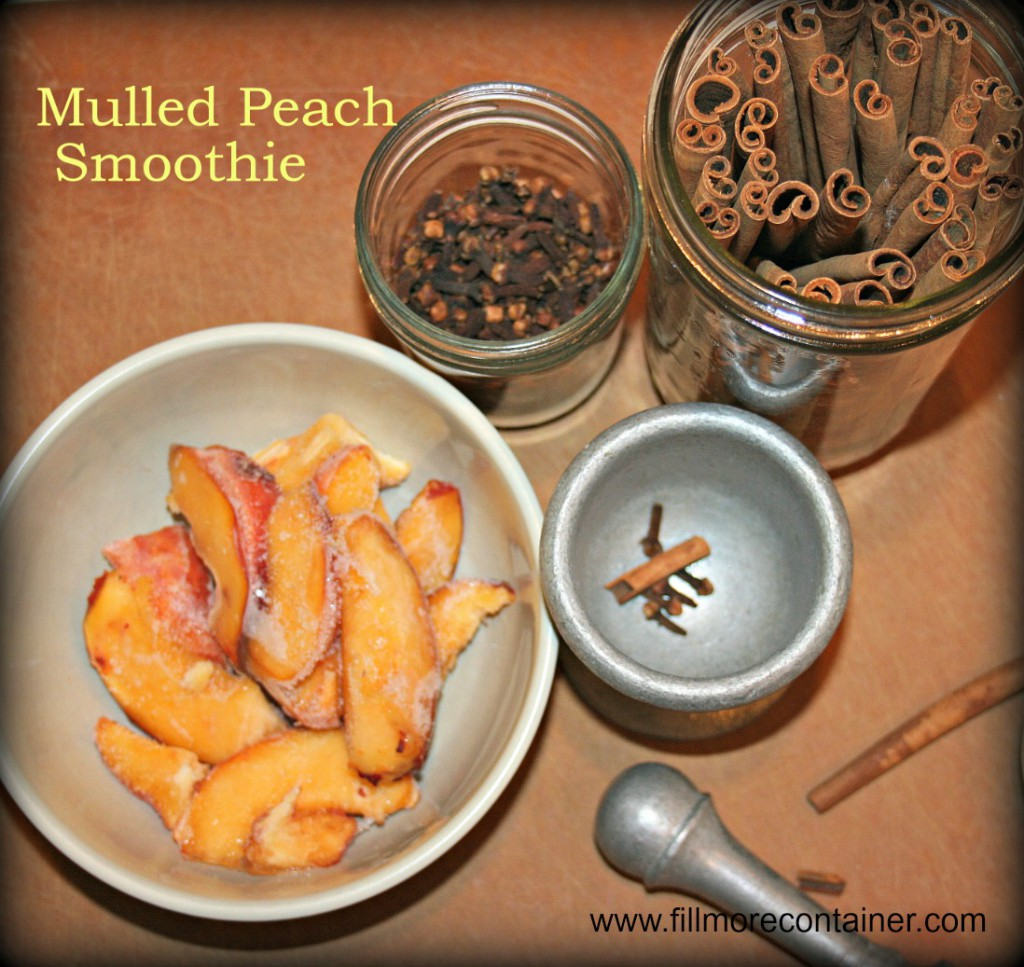 Mulled Peach Smoothie with Text
