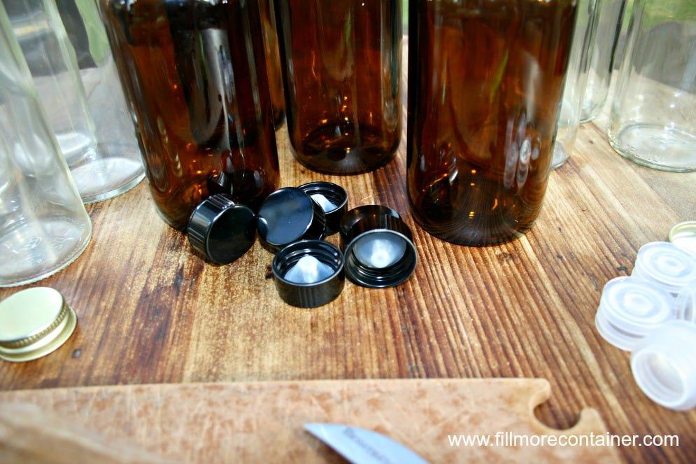 Amber Jars & Phenolic Lids