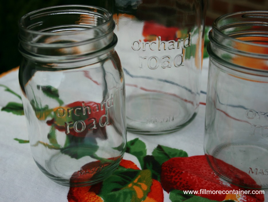 Orchard Road Canning jars empty close