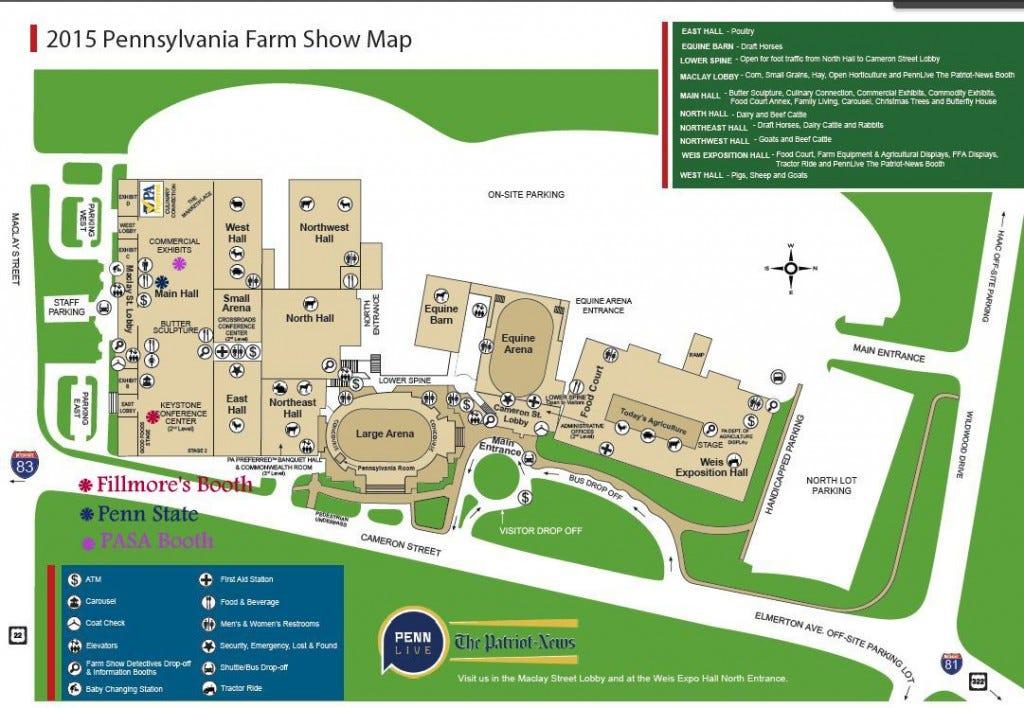 PA Farm Show map 2015