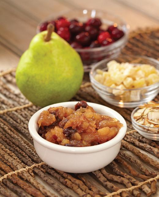 Pear-Cranberry Conserve with Almonds and Crystallized Ginger
