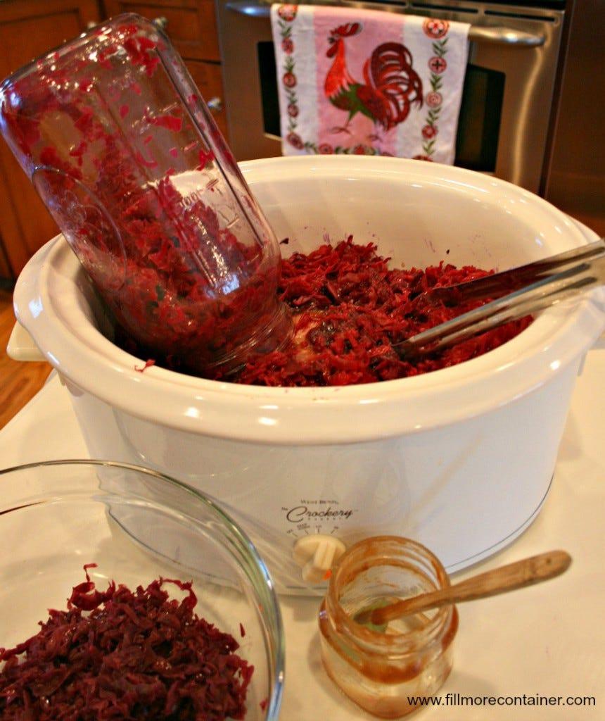 1BlogPurple Cabbage kraut  Crockpot Fillmore Container