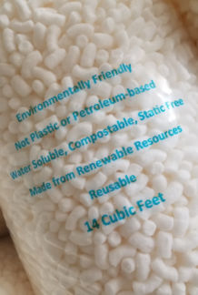 packing peanuts in bag